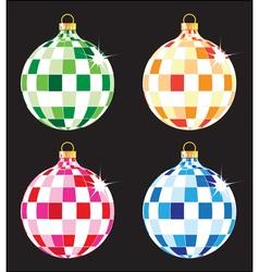 Christmas tree balls set vector image