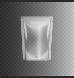 clear sealed plastic bag package realistic 3d vector image