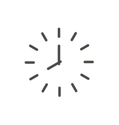 clock icon line time symbol vector image