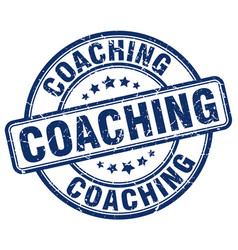 Coaching stamp vector