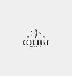 code hunter logo vector image