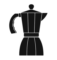 coffee pot icon simple style vector image