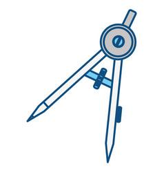 compass geometry utensil vector image