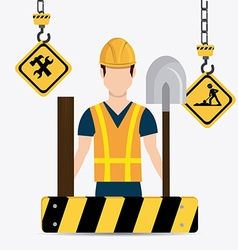 Construction digital design vector