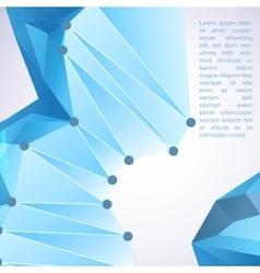 Cristal blue prism vector