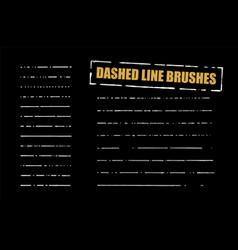 Dashed line brushes set vector