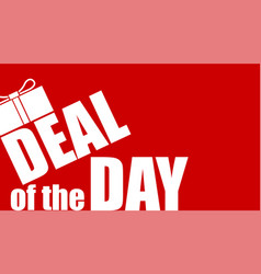 deal of the day offer of discount for shoppings vector image