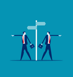 Different choice concept business direction vector