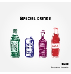 Drinks set vector