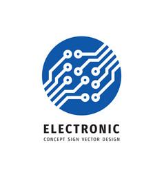electronic technology - logo design vector image
