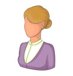 Elegant woman avatar icon cartoon style vector