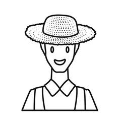 Farmer and man logo set vector