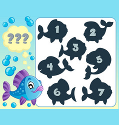 Fish riddle theme image 5 vector