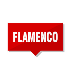 Flamenco red tag vector