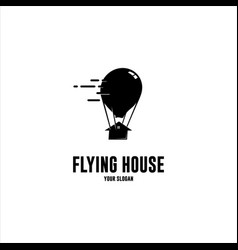 flying house vector image