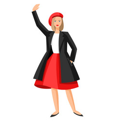 frenchwoman vector image