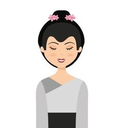 Geisha japan girl isolated vector