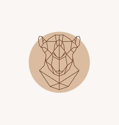 Geometric of a head camel vector