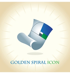Golden Spiral Icon vector