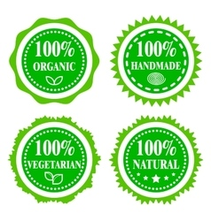 Green badges vector image