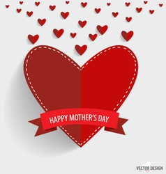 Happy Motherss Day paper hearts vector image