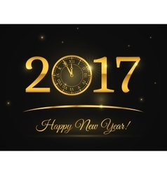 Happy New Year clock background vector image