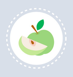healthy fresh food apple fruit icon healthcare vector image