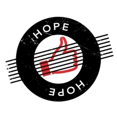 Hope rubber stamp vector