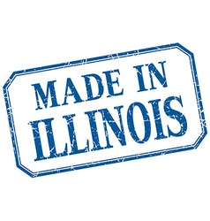 Illinois - made in blue vintage isolated label vector