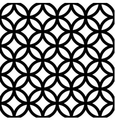 interlocking intersecting circles rings vector image