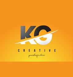 Kg k g letter modern logo design with yellow vector