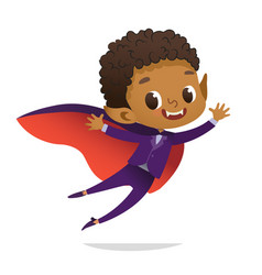 kids costume party african-american dracula vector image