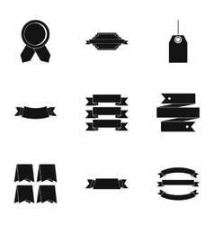 Label icons set simple style vector