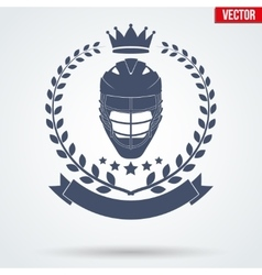 Lacrosse Club Badge and Label vector image