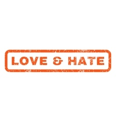 Love Hate Rubber Stamp vector