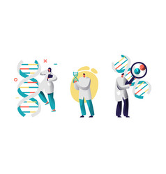 Medicine technology genetic testing with app vector