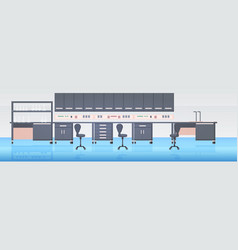 modern lab interior empty no people chemical vector image