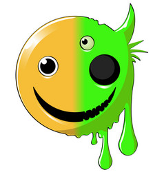 Mutant happy icon vector