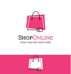 online shopping logo vector image