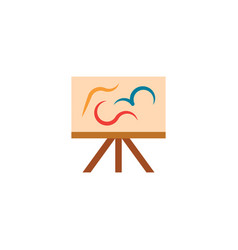 Painting easel artist icon logo design element vector