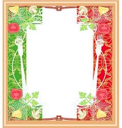 pasta pattern - Vintage style vector image