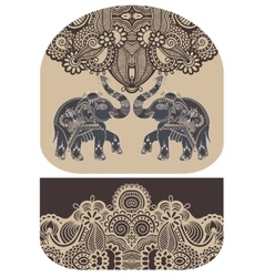 Pattern with elephant of purse money design vector