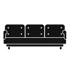 pillow sofa icon simple style vector image
