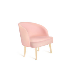 Pink modern chair isolated vector