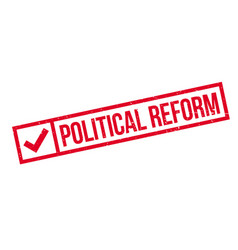 Political reform rubber stamp vector