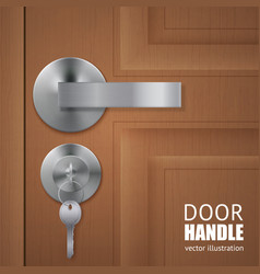 Realistic door downlock background vector