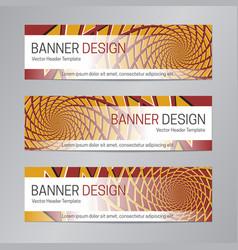 red orange banner design web header template vector image