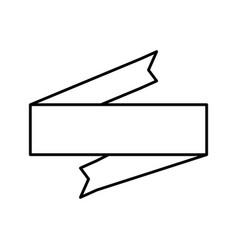 ribbon banner decoration outline vector image