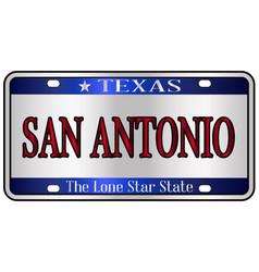 San antonio texas license plate vector