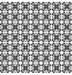 Seamless pattern black and white stylized floral vector